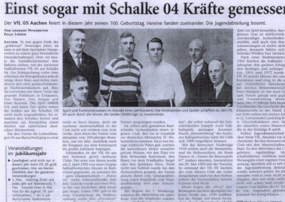100 Jahre - VfL 05 Aachen